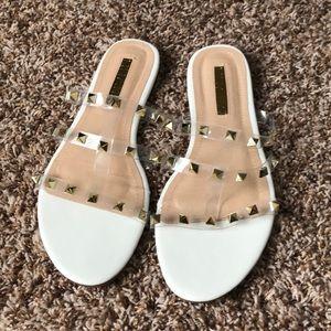 36702057e36a Forever 21 Shoes - Forever 21 Stud Slides